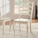 Homelegance 530 Dining Side Chair - Item Number: 530C1-WH