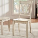 Homelegance 530 Dining Side Chair - Item Number: 530C3-WH