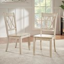Homelegance 530 Dining Side Chair with Double X Back