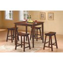 Homelegance 5302 5Pc Counter Height Dinette Set - Item Number: 5302C