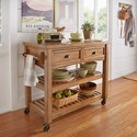 Homelegance 531 Kitchen Cart - Item Number: 531-07BAK+07AK