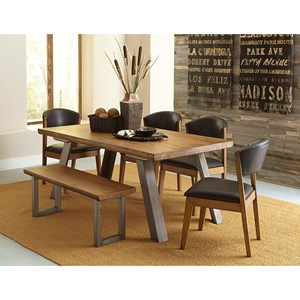 Homelegance 5478 Table and Chair Set with Bench