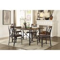 Homelegance 5512 Contemporary Table and Chair Set - Item Number: 5512-66+4xS