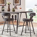 Homelegance 5566 Counter Height Table and Chair Set with Wine Bottle Storage