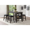 Elegance 5603 Counter Height Table and Chair Set - Item Number: 5603-36+4x24