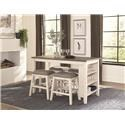 Homelegance 5603 5 Piece Counter Height Dining Set - Item Number: 5603WK1
