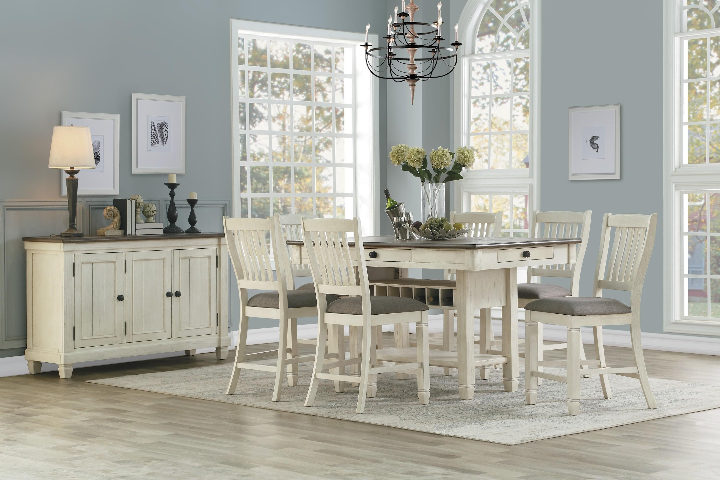 Counter Dining Table & Chair Set