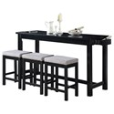 Homelegance Furniture Connected Collection 4-Piece Pack Counter Height Set - Item Number: 5713BK