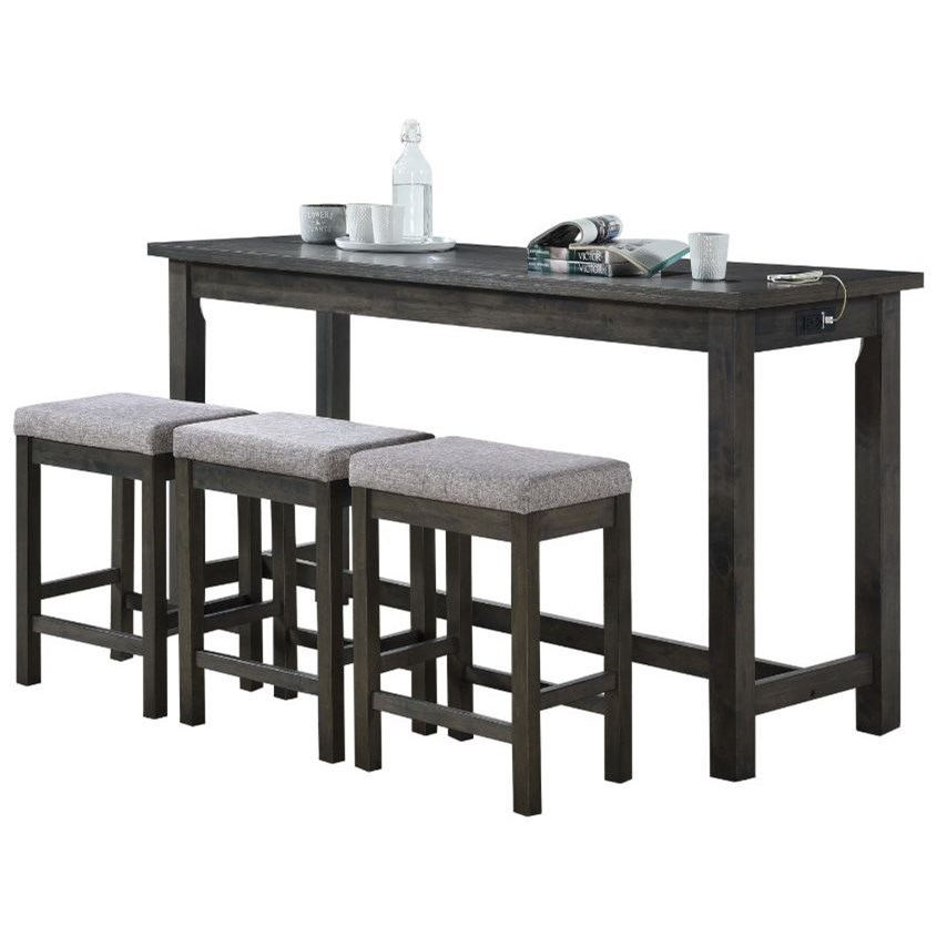 Connected Collection 4-Piece Pack Counter Height Set by Homelegance Furniture at Del Sol Furniture