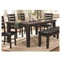 Homelegance Ameillia Dining Table - Item Number: 586GY-82