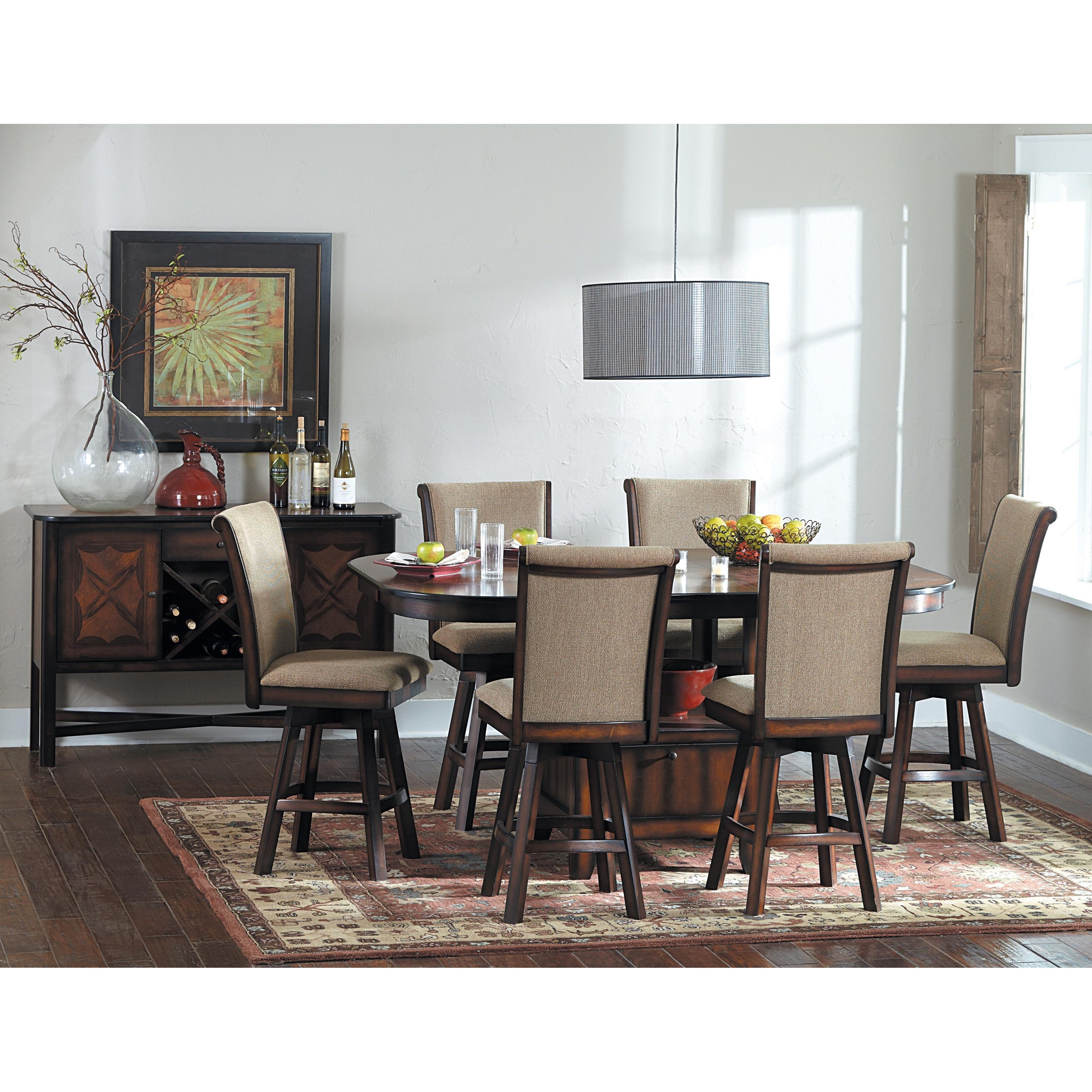 Homelegance 626 Counter Height Dining Room Group - Item Number: 626 Dining Room Group 2