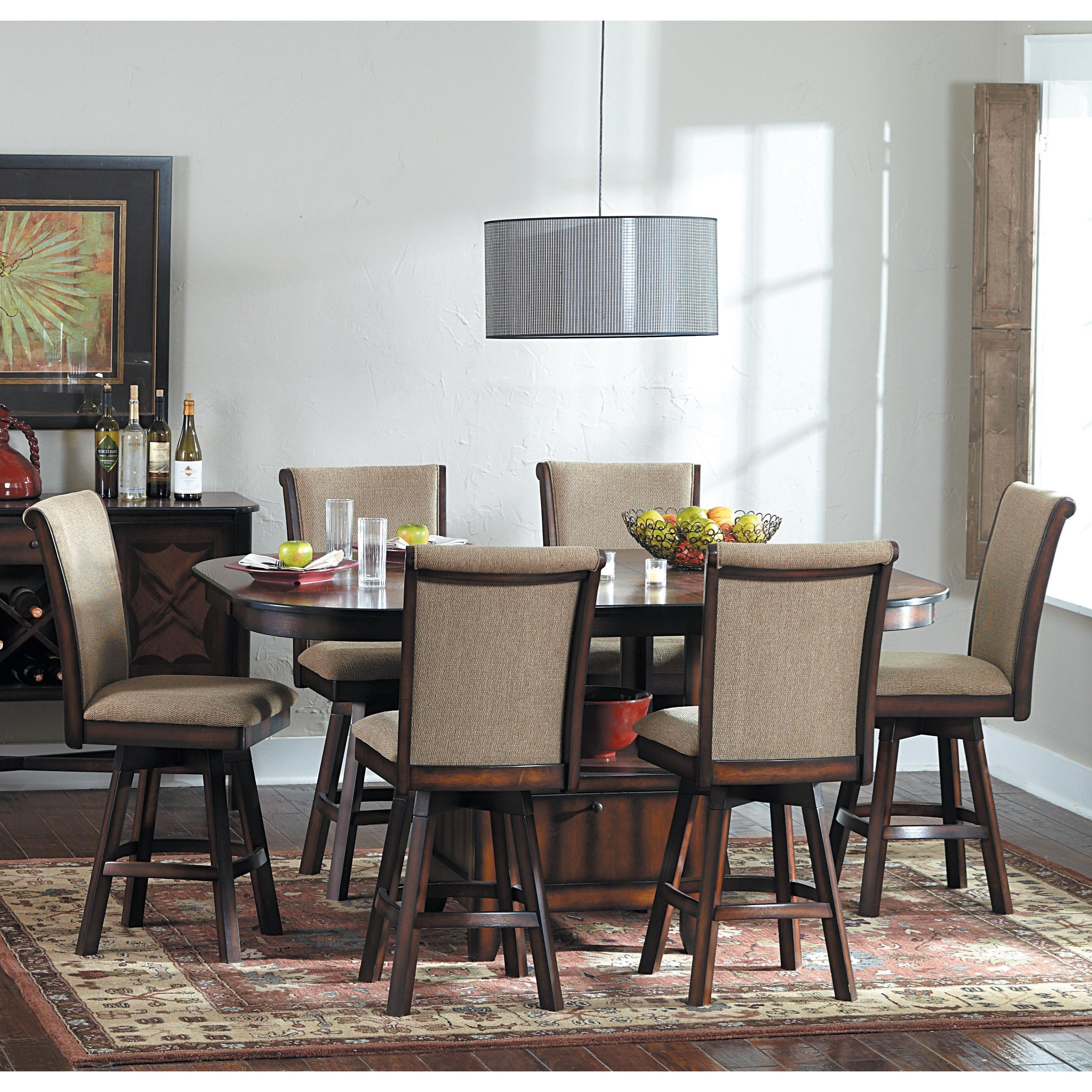 Homelegance 626 7 Piece Counter Height Set - Item Number: 626-36+6x24SW