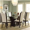 Homelegance 710 7Pc Semi-Formal Dining Room - Item Number: 710-72-710WS+6