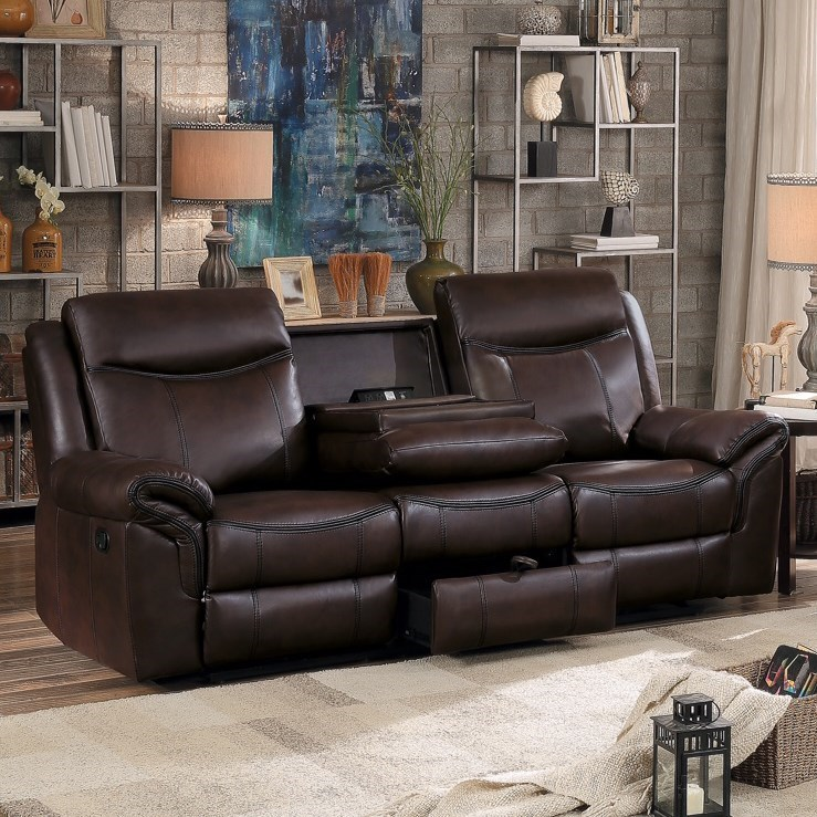 8206 Reclining Sofa by Homelegance at Simply Home by Lindy's