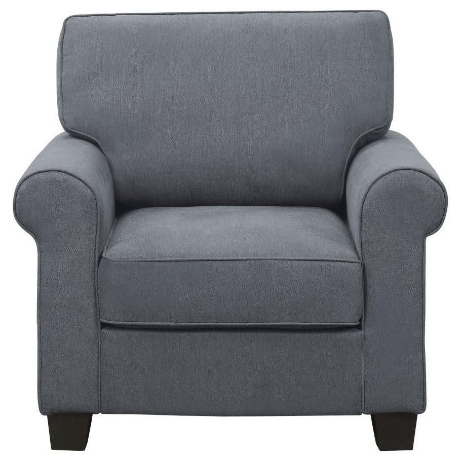 Selkirk Upholstered Chair by Homelegance Furniture at Del Sol Furniture