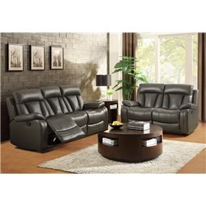 Homelegance Ackerman Double Reclining Sofa