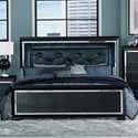 Homelegance Allura Queen Panel Bed - Item Number: 1916BK-1+2+3