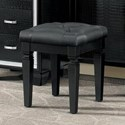 Homelegance Allura Vanity Stool - Item Number: 1916Bk-14
