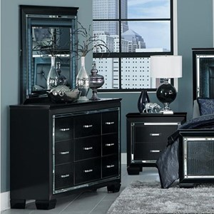 Homelegance Allura Dresser and Mirror Set