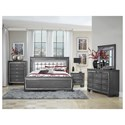 Homelegance Allura Queen Bedroom Group - Item Number: 1916GY Q Bedroom Group 1