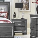 Homelegance Allura Night Stand - Item Number: 1916GY-4