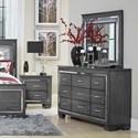 Homelegance Allura Dresser and Mirror Set - Item Number: 1916GY-5+6