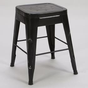 "Homelegance Amara Modern 18"" Metal Bar Stool - Item Number: 5035-18-BLK"