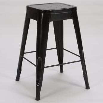 "Homelegance Amara Modern 24"" Metal Bar Stool - Item Number: 5035-24-BLK"