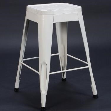 "Homelegance Amara Modern 24"" Metal Bar Stool - Item Number: 5035-24-WHT"