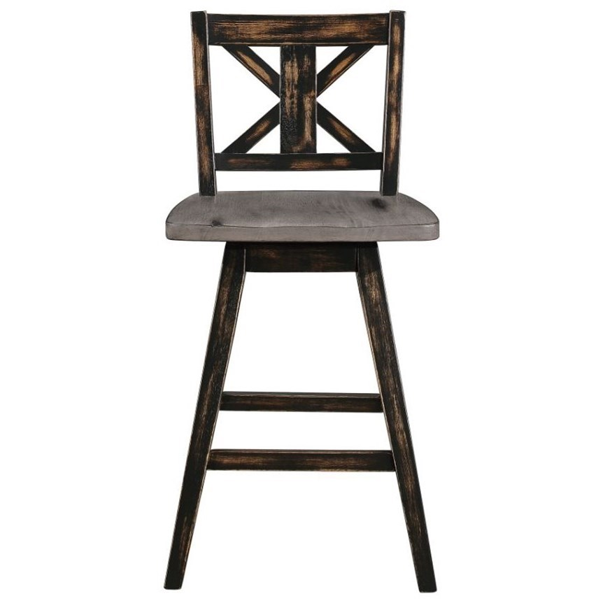 Amsonia Swivel Counter Height Chair by Homelegance at Simply Home by Lindy's
