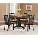 Homelegance Andover Table and Chair Set - Item Number: 2458