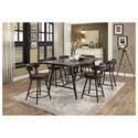 Homelegance Appert 7 Piece Dining Set - Item Number: 5566-36+6x24BR
