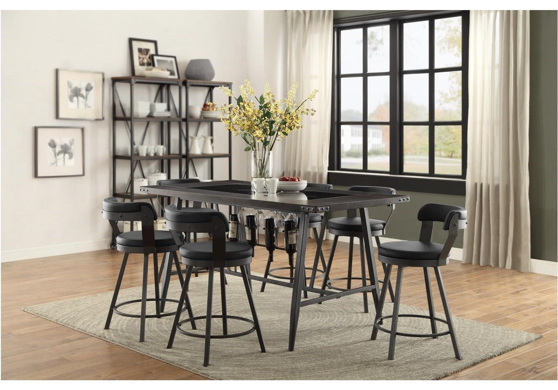 Appert 5 Piece Counter Height Dining Set by Homelegance at Darvin Furniture