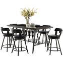 Homelegance Appert 5 Piece Counter Height Dining Set - Item Number: 5566K1