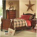 Homelegance Aris Casual Twin Youth Headboard - Item Shown Includes Headboard Only. Frame Sold Separately.
