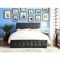 Homelegance Baldwyn Contemporary Queen Upholstered Platform Bed - Item Number: 5789BK-1+3