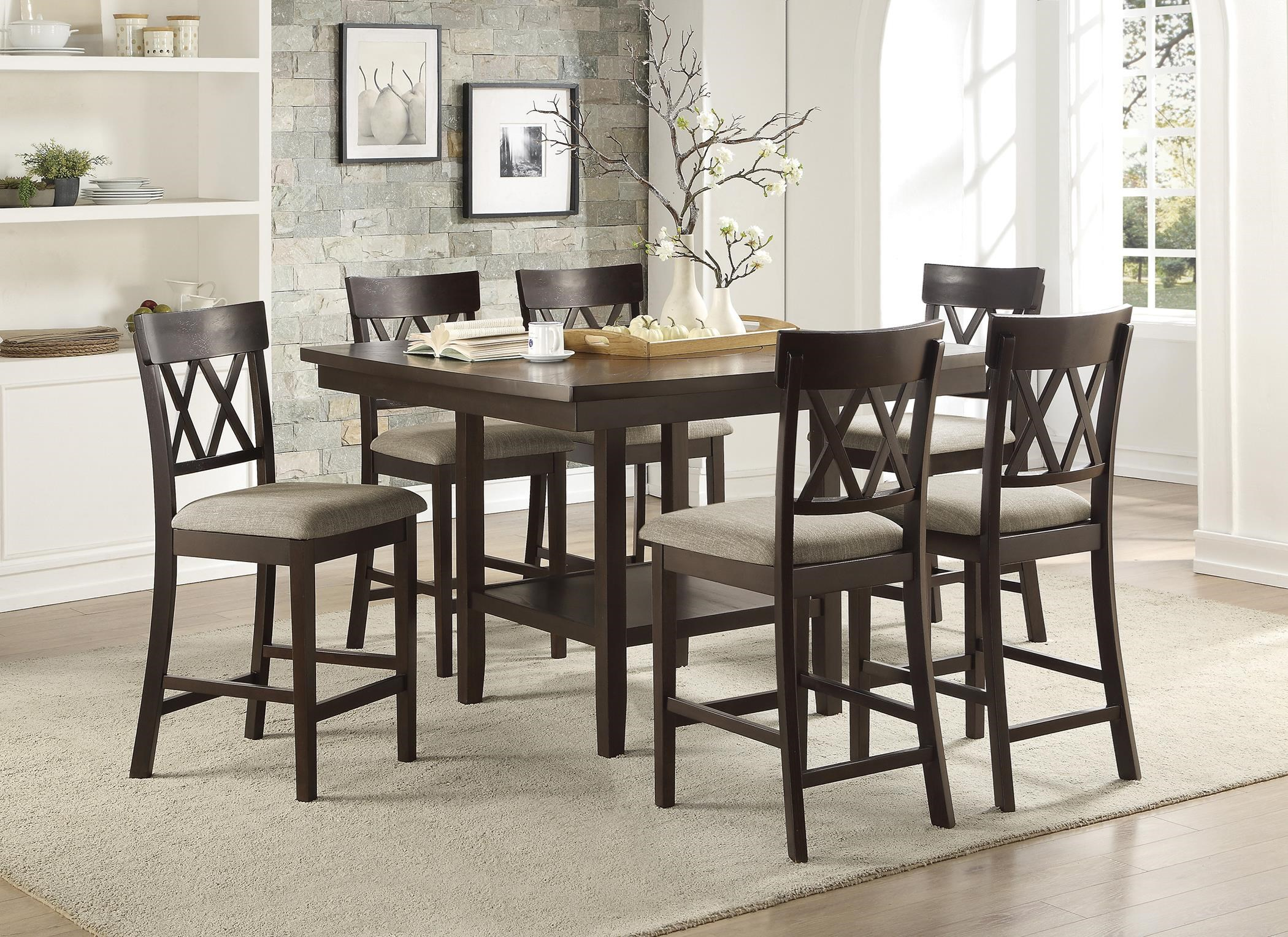 Balin 5 Piece Counter Height Dining Set by Homelegance at Darvin Furniture