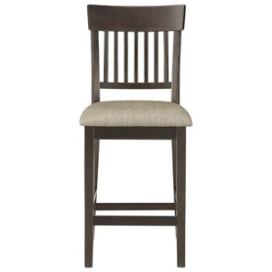 Slat Back Counter Height Chair