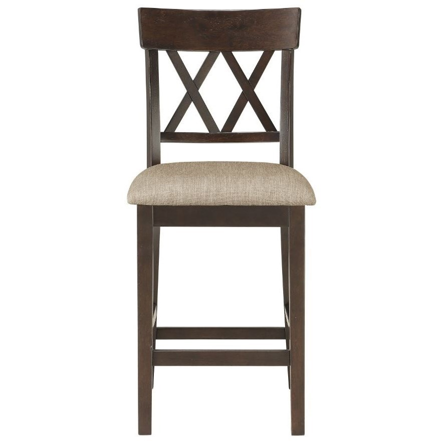 Double X-Back Counter Height Chair