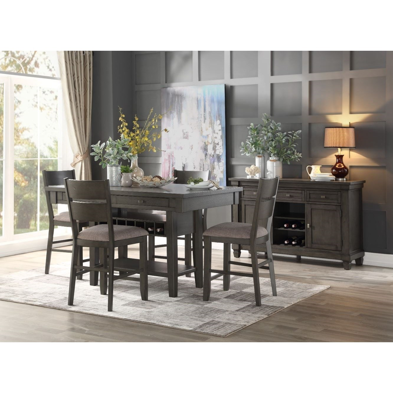 Baresford Casual Dining Room Group by Homelegance at Rife's Home Furniture