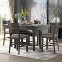 Homelegance Baresford 5-Piece Counter Height Dining Set - Item Number: 5674-36+36B+4x24