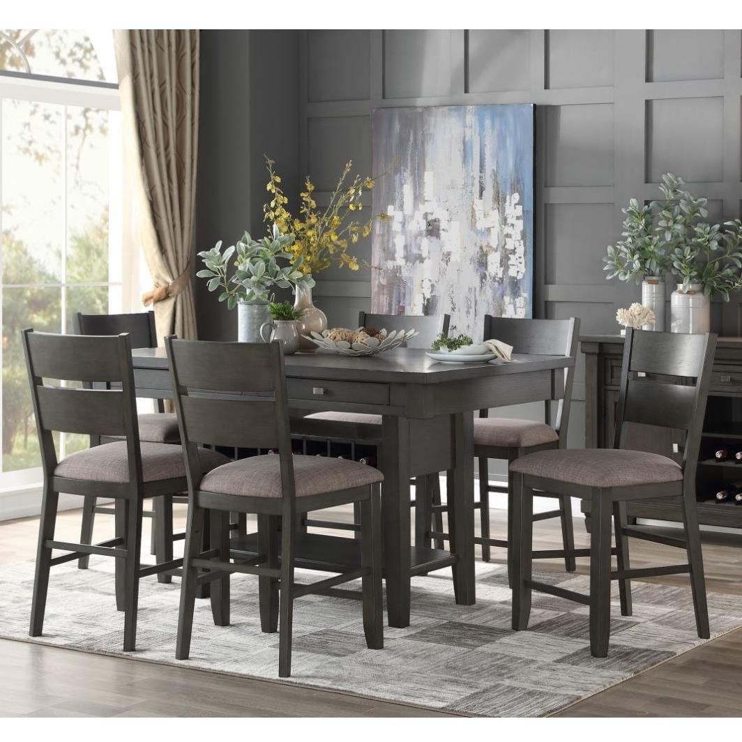 Baresford 7-Piece Counter Height Dining Set by Homelegance at Beck's Furniture