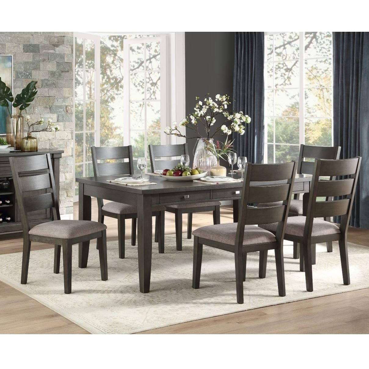 Baresford 7-Piece Table and Chair Set by Homelegance at Rife's Home Furniture