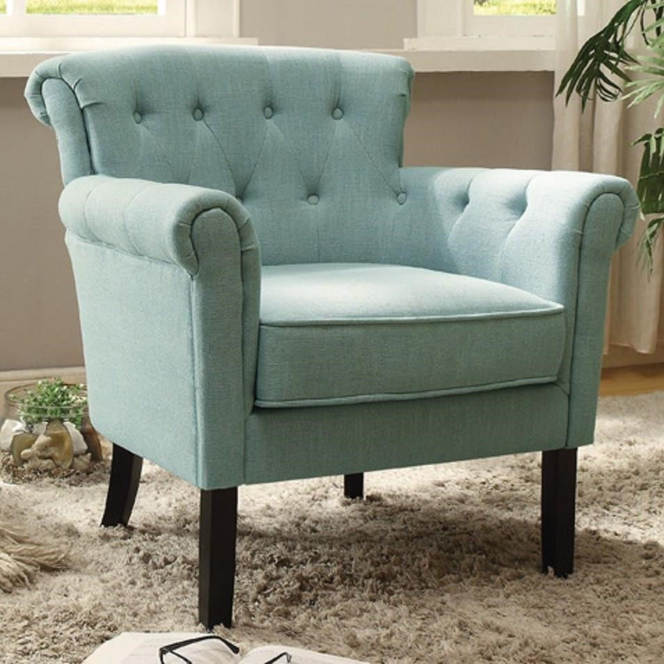 Barlowe transitional accent chair with tufted back by homelegance