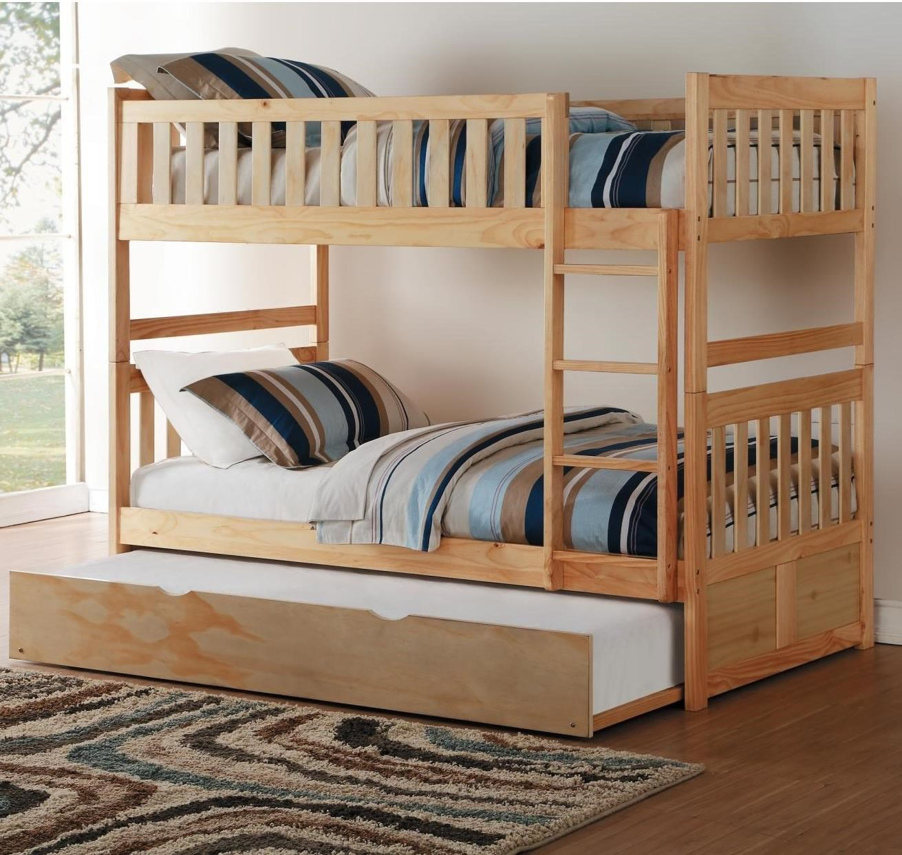 Bartly Twin/Twin Bunk Bed by Homelegance at Rife's Home Furniture