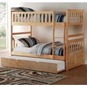 Homelegance Bartly Twin/Twin Bunk Bed - Item Number: B2043-1+2+R