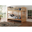 Home Style Natural Twin Over Twin Bunk Bed - Item Number: B2043-1+2