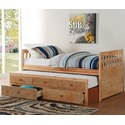 Home Style Natural Twin Captain's Bed - Item Number: B2043PR-1+2