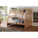 Home Style Natural Twin Over Full Bunk Bed - Item Number: B2043TF-1+2+SL