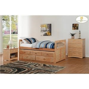 Twin/Twin Trundle Bed with Two Storage Drawe